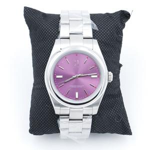 Alta Qualidade limitada 39MM Perpetual 116000 aço inoxidável Assista Red Grape Dial Relógios de pulso mecânicos relógios automáticos