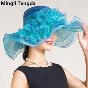 High Qualty Wedding Hat and Fascinators Wedding Hats for Women Elegant Exaggeration Bridal Hats chapeau mariage Mingli Tengda T200620