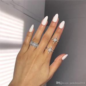 Choucong Victoria Wieck luxe Bijoux argent 925 étoile Pave blanc Sapphire CZ Eternity Diamond femmes anneau de mariage nuptiale Ensemble-cadeau