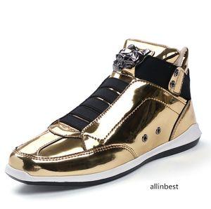 sapatos coreano moda do desenhador de moda s prata ouro negro brilhante brilhante Sr. elegante tapete preferido qualidade sapatos vermelhos