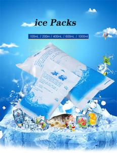 얼음 팩 재사용 냉동고 얼음 가방 젤 쿨러 가방 음식 재사용 신선 식품 아이스 가방 200분의 100 / 600 / 1000 ㎖ 팩