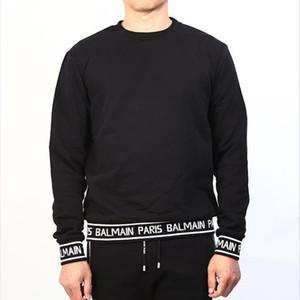 19FW Balmain Hoodie Stylist manica lunga di alta qualità misura allentata donne degli uomini di Hip Hop con cappuccio di stampa della lettera felpata di formato M-XXL