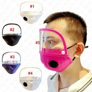Hombres Mujeres desmontable máscara máscaras ajustables y desmontables Sun Protection dos en uno mascarillas Ojos de la cubierta con Válvula respiratoria 5Colors D71511
