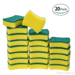 20pcs Sponge Scouring Pads Scrub Magic Eraser Cleaning Dish Bowl Brushes Cleaner Kitchen