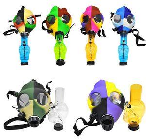 Silicone Mask Acrylic Hookahs Smoking Pipe Gas Mask Pipes Acrylic Bongs Tabacco Shisha Metal Plastic Pipe Water Njgxr