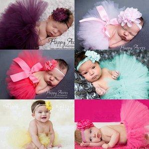 Пачка платье Set девушки малыша Юбка туту оголовье 2pcs Наборы Baby Girl Фотография Одежда Одежда для новорожденных Фото Реквизит 7 Designs DW5630