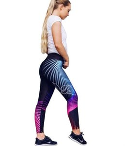 New cross-border bottom pants, four stitches, six-line digital printing, yoga bottom pants, high-waisted bottom trousers