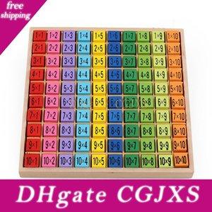 I bambini in legno Times Table 99 Tabella di moltiplicazione matematica giocattolo 10 * 10 Figura Blocchi Learn regali educativi aritmetica sussidi didattici per i bambini