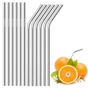 304 paja de acero inoxidable jugo enderezar Café Leche pajas pajas de beber Bar creativa herramienta de la cocina Cocina T9I00473