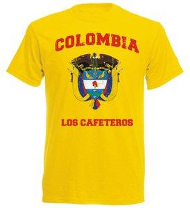 New Spring High-Elastic Cotton New Funny Brand Clothing Footballer T-Shirt Kolumbien Futbol 2020 Colombia Footballer Homme Tee