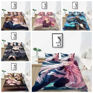 2020 Bedding Anime Goddess Printing 2 3Pcs 100% Polyester Quilt Cover Set Single Double King Size