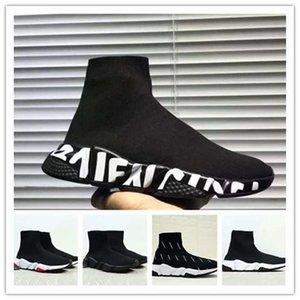 Balenciaga Sock shoes Luxury Brand Femmes Hommes Chaussette Chaussures De Marche Noir Blanc Rouge Vitesse Trainer Baskets Sport Haut Bottes Casual chaussure mens 36-45