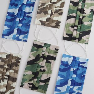 Ply Camouflage Anti-Pollution Blocking Elastic Shipping Masks For Ear Free Face Breathable 3 With Disposable Dust Air Loop Cgcnq Mask Scoxj