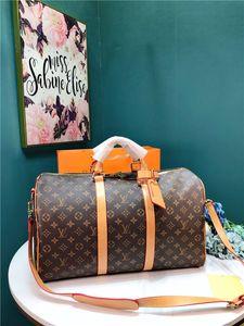 50 CM BAVUL valiz: kadın moda tasarımcıları hakiki deri omuz çantaları Crossbody Çanta Bez çanta çanta mesaj boyutu handbags