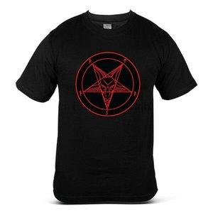 Радуйся Сатана Бафомет Символ Сатанинская Церковь гот Нечестивая Демонический Mens Tee T-Shirt