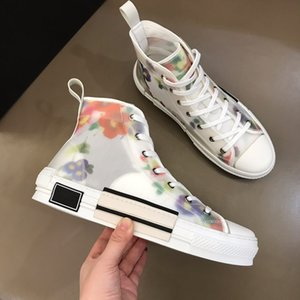 High Quality 2020 New Hot Sale Classic Fashion Unisex PVC Transparent Mesh High-Top Canvas Shoes Letters Pattern Running Sneaker Size 35-44