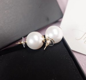 Luxurious quality pearl bead stud earring for women wedding gift jewelry free shipping PS4572