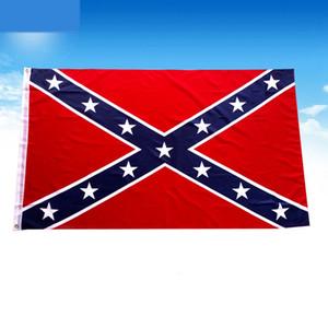 US 90x150 cm confédéré drapeau rebelle guerre civile bataille guerre civile Sixie Drapeaux nationaux Polyester Deux côtés imprimés Drapeau LJJP116