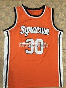 30 Billy Owens Syracuse Orange 1991 Basketbol Jersey tüm boyut Dikiş Dikişli özelleştirme Formalar yelek herhangi bir ad ve ad XS-6XL