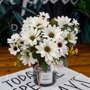 21 heads 1pcs Silk daisy Bride bouquet for Christmas home wedding new Year decoration fake plants sunflower artificial flowers