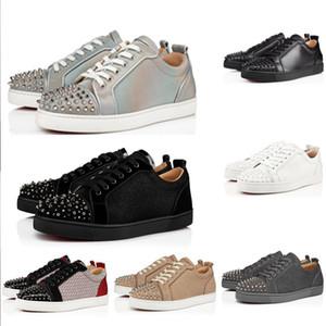 2020 Nueva inferiores rojos de los zapatos ocasionales amantes de alta calidad del partido del remache con estilo zapatos planos populares zapatillas de deporte de los hombres y las mujeres zapatos del punto de cuero