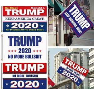 DHL 3-7 dias 8 estilos Trump Bandeiras 2020 150x90cm Impresso Trump Bandeira Mantenha América Grande Donald para o presidente Campanha Bandeira FY6061