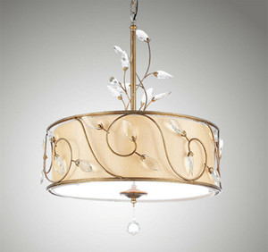 Modern Kitchen Leighton 3 Light Inverted Drum Crystal Pendant Lamp Living Room Dining Room Bedroom Ceiling Lamp PA0432