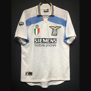 Rétro Latium 1998/00 Soccer Jerseys Nesta Nedved Vieri Salas Mancini Mihajlovic Simeone Inzaghi Veron Crespo Kit vintage Chemise classique