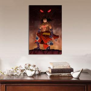 Wall Art Poster HD Baskılar Modüler Resimler Tek Parça Fanarts Monkey D. Luffy Wano Tuval Japon Anime Ev Dekorasyon Boyama