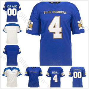 2019 Any Name Custom Winnipeg Blue Bombers 15 Matt Nichols 33 Andrew Harris 7 Whitehead 5 Jefferson Blank Football Jerseys