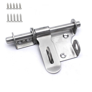 Stainless Steel Anti-theft Door Installation Left and Right Bolts #L for Safety with Lock Buckle Heavy Duty Hardware Accessories
