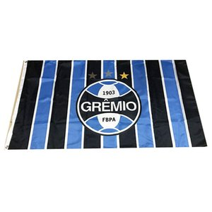 Brazil Gremio FC Flag 3x5ft 150x90cm 100D Polyester Sports Team Club Outdoor Hanging Free Fast Shipping