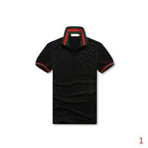 2020 Новые мужские дизайнерские рубашки поло Летние поло Мужские рубашки Сыпучие дышащий Полосатый Printed Мода Повседневная Стиль рубашки Размер M-3XL
