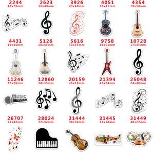 60pcs lot PR2244 Resins Cartoon Resin Music Note Flatback for Hair Bows Hair Accessories Planar Resin Crafts DIY Decorations