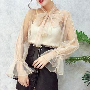 Missoov kadın gömlek tasarımcı marka sonbahar moda blusas bayanlar blusa siyah pembe vetement yeni sx5h # femme başında yay bluz örgü seksi