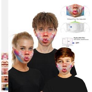 x6HaH LIP impresión de cuatro estaciones LIP hogar impresión de cuatro estaciones mas PM2.5 hogar lavable transpirable respiración algodón máscara válvula PM2.