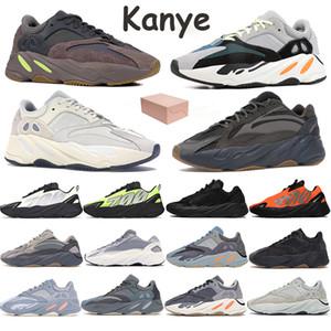 700 Wave Runner zapatos para correr para hombre reflexivo Kanye Fósforo Bone Naranja Estático analógico sal de carbono azul del trullo entrenadores deportivos con la caja