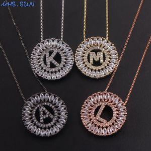 MHS.SUN New Arrival CZ Zircon Jewelry 26 Letter Necklaces & Pendants For Women Jewelry Choker Charm Alphabet Chain Necklace 1PC