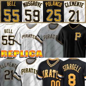 55 Josh Bell-Jersey 8 Willie Stargell Jerseys 21 Roberto Clemente Jersey Joe Musgrove Gregory Polanco Adam Frazier Custom Baseball Jersey