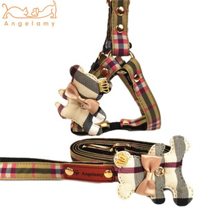 INS Style Lovely Charm Pet Harnesses Cute Bear Ornament Pattern Pet Leashes Festival Personality Charm Keji Chai Dog Collar Leashes