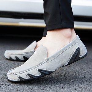 Casual Shoes Top Uomo WEH Uomo Casual pelle scamosciata fannulloni slittamento scarpe in barca per gli uomini Mocassini Chaussure Homme grandi formati 47