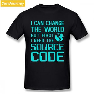 I Can Change The Word But Need The Source Code Men T Shirt Drop Shipping Funny Cotton Short Sleeve Custom Men Clothes 2020