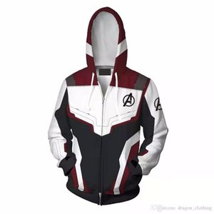 Avengers Endgame Quantum Realm Sweatshirt Jacket Advanced Tech Hoodie Cosplay Costumes New Superhero Iron Man Hoodies Suit