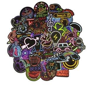 Neon Car Sticker Cartoon Nero Figura Fiori chitarra Birra Cuore dei graffiti poster casa della parete di arte 3d Adesivi regali di 5 85nt C2