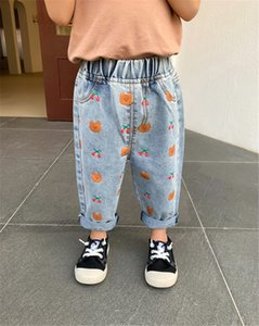QE64A Tong Kexing jeans joven otoño de 2020 niños del estilo de Corea extranjera casuales pantalones vaqueros rábano y el nabo estilo todo-fósforo ocasional pantalones de rábano