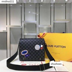 shipping messenger bag men leather shoulder bag leather messenger bag wallet tote N41054 size 25-22-7cm