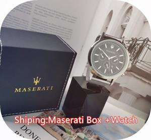 스테인레스 스틸 원래 상자와 쿼츠 시계 남성의 장식 시계 스테인레스 스틸 스트랩 고품질의 비즈니스 시계