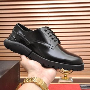 Derby Mens Shoes Luxury Design Comfortable Business Vintage Leather Dress For Male Wedding Formal Flats Round Toe Lacing Office Work Shoes