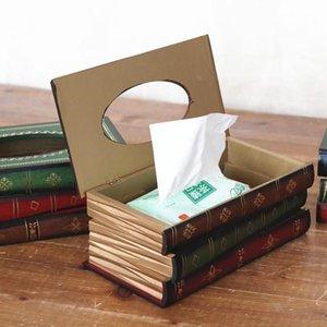 Petit papier toilette Boîte pratique anti usure tissu économique Boîtes Simulation Livre Forme Décoration de table Accessoires 23 2fm BB