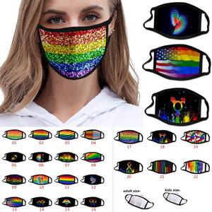 Femmes Hommes LGBT Gay Masque Impression Mode anti-poussière design Masque de protection Masque lavable navire gratuit DHL HH9-3158